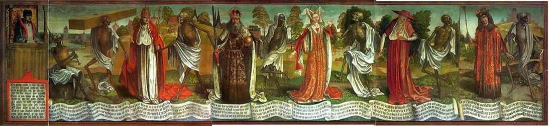 Bernt Notke, Danza macabra (particolare), fine XV sec., Tallinn, Chiesa di San Nicolò.