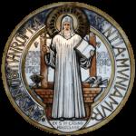 Medaglia di san Benedetto (recto?)