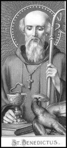San Benedetto da Norcia, immagine votiva