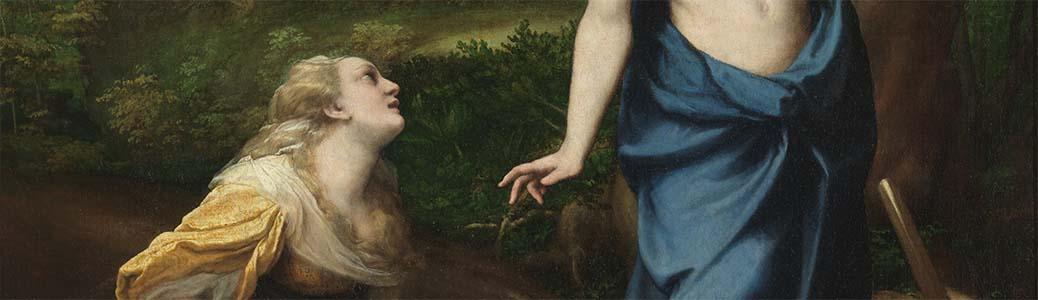 Antonio Allegri detto il Correggio, Noli me tangere, 1523-1524 circa, Madrid, Museo del Prado.