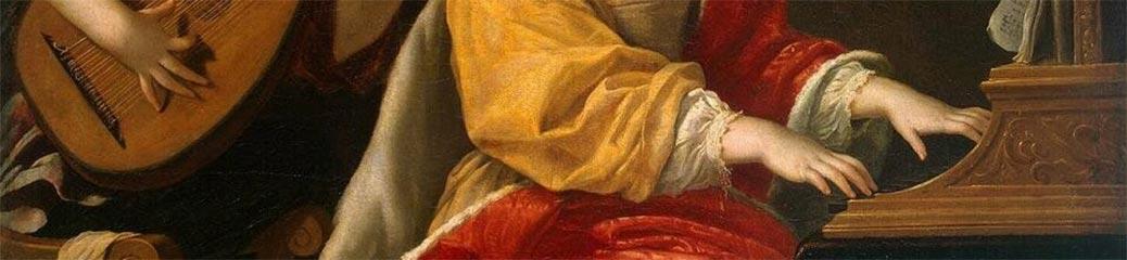 Jacques Blanchard, Santa Cecilia, prima metà del XVII secolo, San Pietroburgo, Museo statale Ermitage.