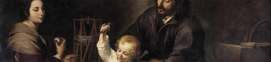 Bartolomé Esteban Murillo, Santa Famiglia con l'uccellino, 1632, Madrid, Museo del Prado.