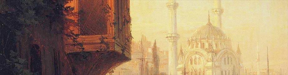 Veduta di Costantinopoli, arte.