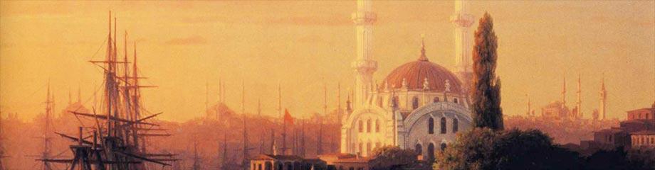 Ivan Konstantinovič Ajvazovskij, Panorama di Costantinopoli (particolare), 1856, collezione privata.