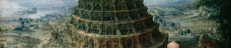Marten van Valckenborch il Vecchio, La Torre di Babele, 1595, Dresda, Gemäldegalerie Alte Meister.