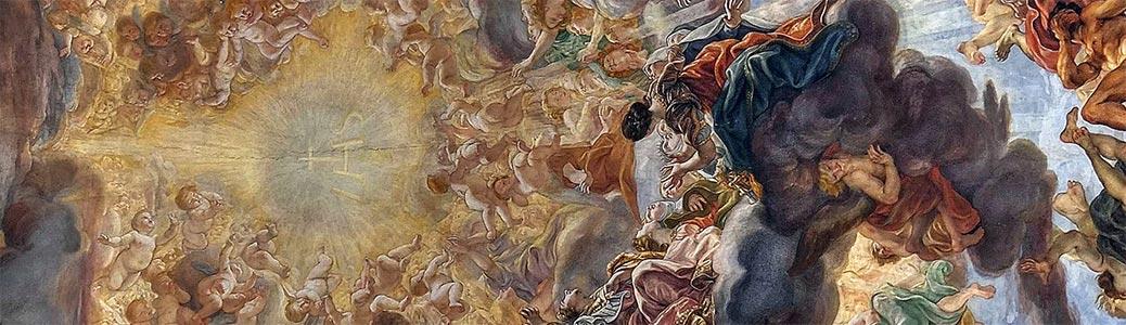 Giovan Battista Gaulli detto il Baciccio, Trionfo del Nome di Gesù, prima metà del XVII secolo, Roma, Chiesa del Gesù.