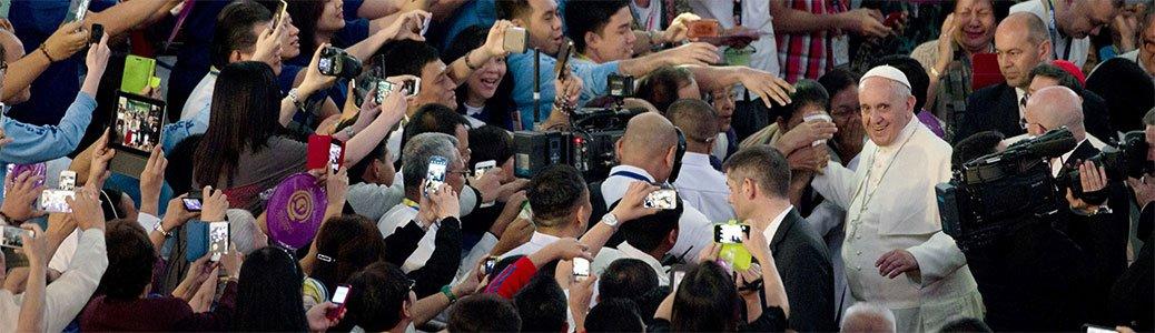 Papa Francesco, Filippine, gennaio 2015. AP.