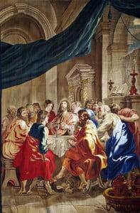 Jan Raes da Pieter Paul Rubens, Istituzione dell'Eucaristia, 1632-1650, 500x350 cm, Ancona, Museo diocesano.