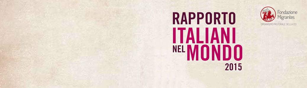 Rapporto Italiani nel Mondo 2015, Fondazione Migrantes, Simone Varisco
