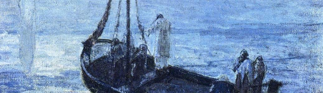 Henry Ossawa Tanner, I discepoli vedono Cristo camminare sull'acqua, 1907, Des Moines (Usa), Des Moines Art Center.