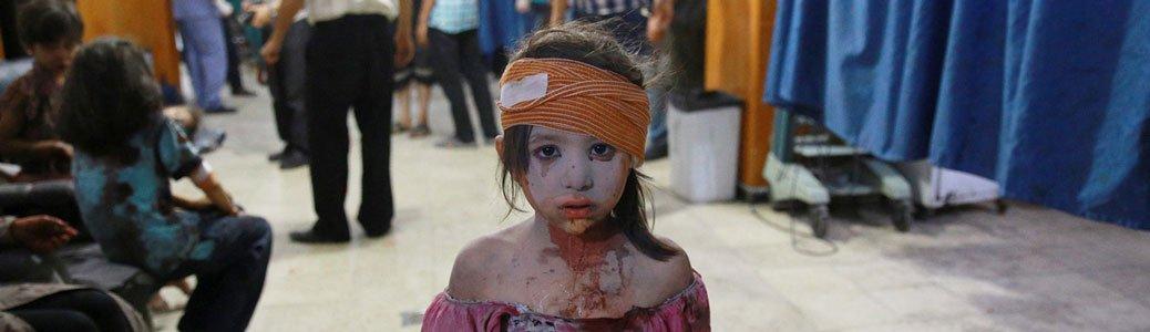 Una bambina, vittima della guerra in Siria