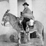 Don Jose Gabriel del Rosario Brochero in sella alla sua celebre mula