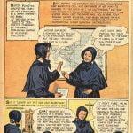 """Suor Blandina in fumetto. """"Treasure Chest of Fun & Fact"""". Il titolo: """"Leave the rest to God"""", """"lascia il resto a Dio"""""""