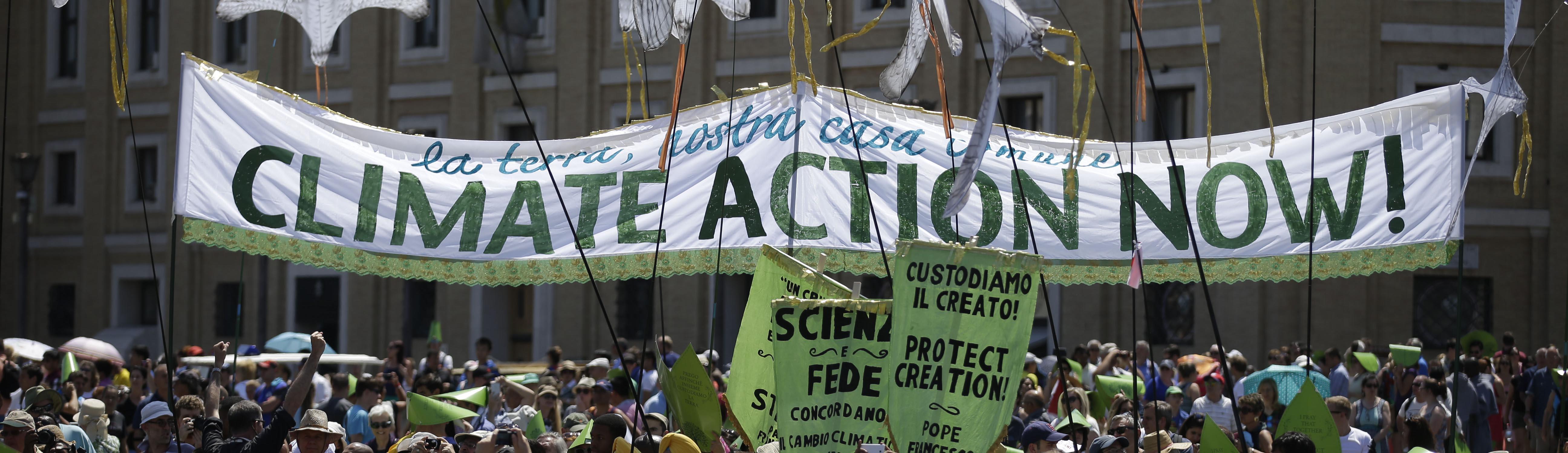 Manifestazione per l'ambiente, Piazza San Pietro, papa Francesco