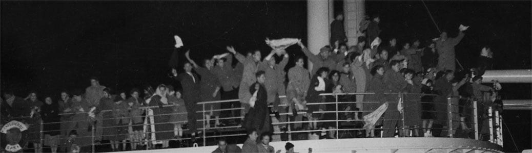 Emigrazione italiani Australia, nave