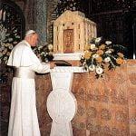 Giovanni Paolo II in visita al Santuario, 4 novembre 1984