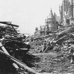 La distruzione dopo l'uragano.