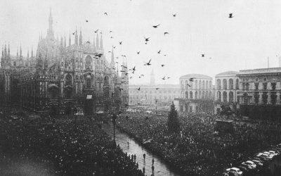 Milano, 15 dicembre 1969. Funerali delle vittime di Piazza Fontana. Card. Colombo: «Dobbiamo fare qualche cosa per cambiare questo mondo. Ma non lo cambieremo in meglio, se non si ritornerà ai principi e ai metodi del Vangelo».