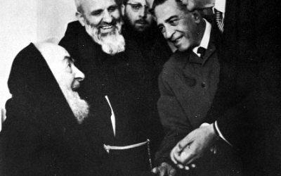 Aldo Moro in visita a padre Pio