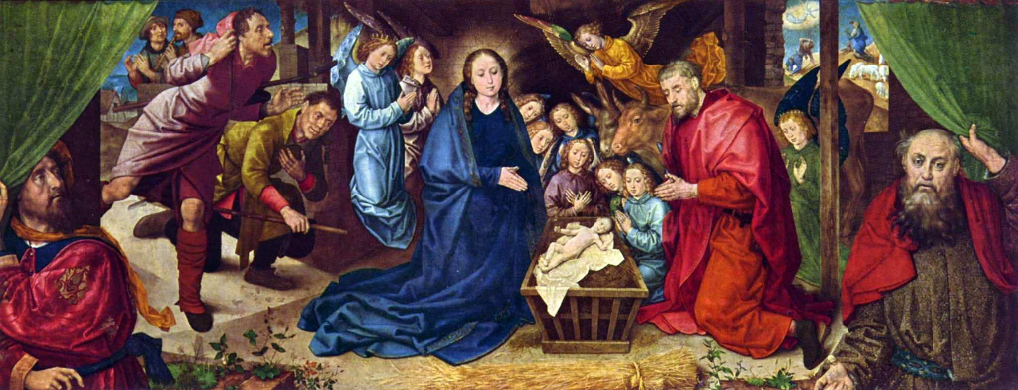 Hugo van der Goes, Adorazione dei pastori, 1480 c., Berlino, Gemäldegalerie.