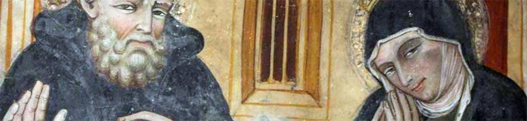 Scuola umbro-marchigiana, Ultimo colloquio di san Benedetto e santa Scolastica, XV secolo, Subiaco, Sacro Speco.