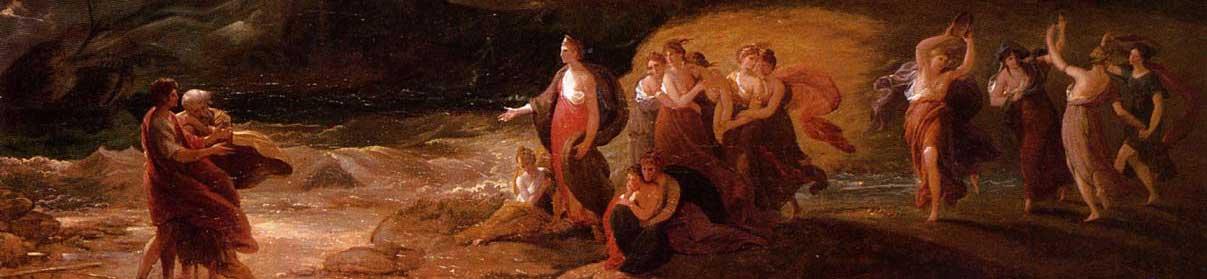 Benjamin West, Calipso riceve Telemaco e Me, 1801.