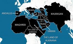 Mappa ipotesi Califfato islamico Is