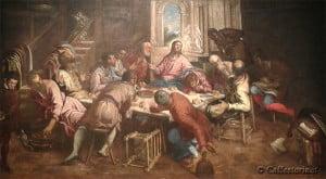 Tintoretto (Jacopo Robusti), Ultima cena, 1561-62, Venezia, chiesa di San Trovaso.