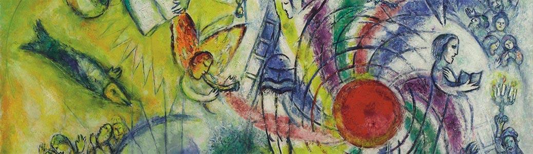 Marc Chagall, La creazione dell'uomo, 1956-58, Nizza, Musée National Marc Chagall.