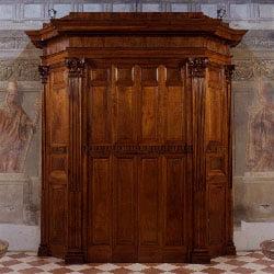 Bussola della chiesa dei Santi Faustino e Giovita, Brescia, 1831.