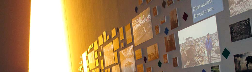 Padiglione Expo Santa Sede, parete fotografica