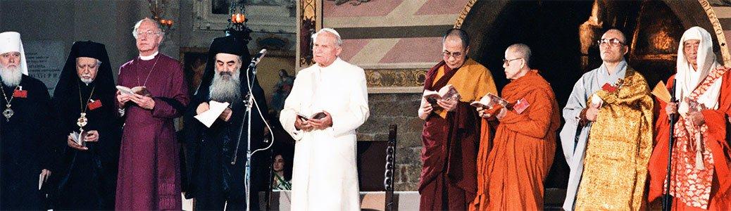 Papa Giovanni Paolo II e leader religiosi, Assisi, 1986
