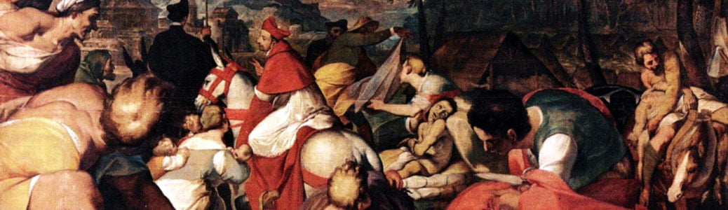 Giovan Battista Crespi detto il Cerano, San Carlo consola gli appestati alle capanne, XVII secolo, Milano, Duomo di Milano