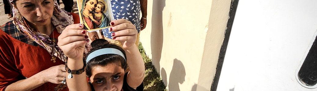 Profughi cristiani rifugiati nel campo di Levo, Iraq