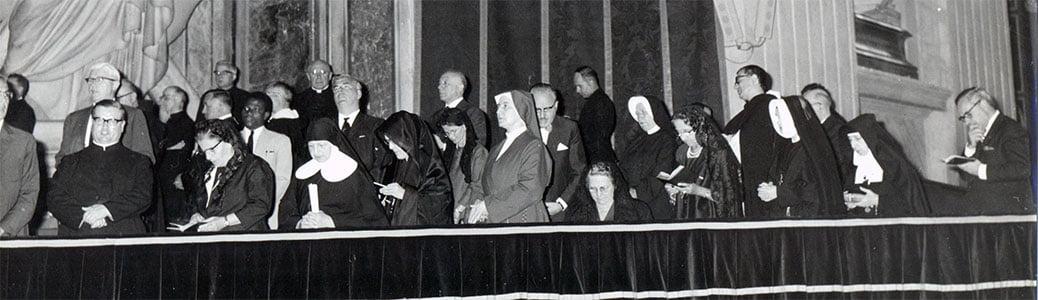 Alcune delle 23 uditrici del Concilio Vaticano II
