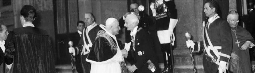 Giovanni XXIII e Antonio Segni al Quirinale, 11 maggio 1963