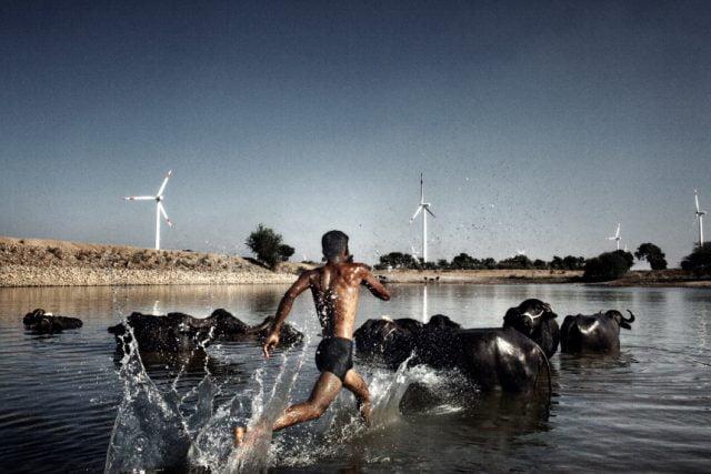 Campo eolico di Dhule, in Maharashtra, a 300 chilometri da Mumbai, in India. © Luca Catalano Gonzaga.