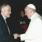 Padre Guido Trezzani e papa Francesco