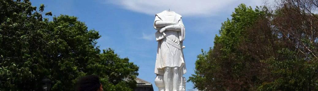Statua decapitata, Stati Uniti, proteste
