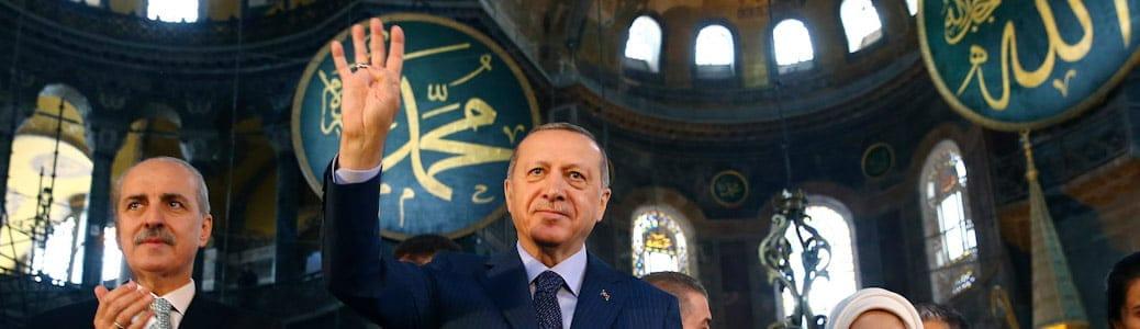 Erdogan Santa Sofia Turchia