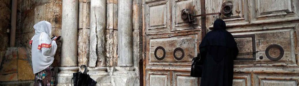 Porta Santo Sepolcro, Gerusalemme, Vangelo