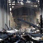 La benzina di Santa Sofia e il fuoco in chiesa negli Stati Uniti