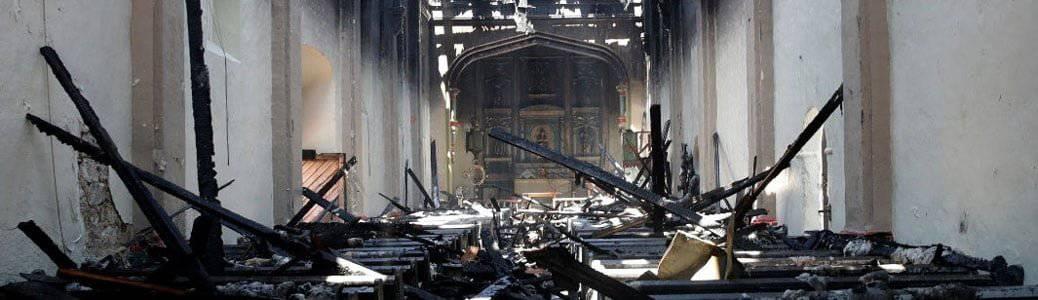 Santa Sofia, San Gabriel incendio Junipero Serra Stati Uniti