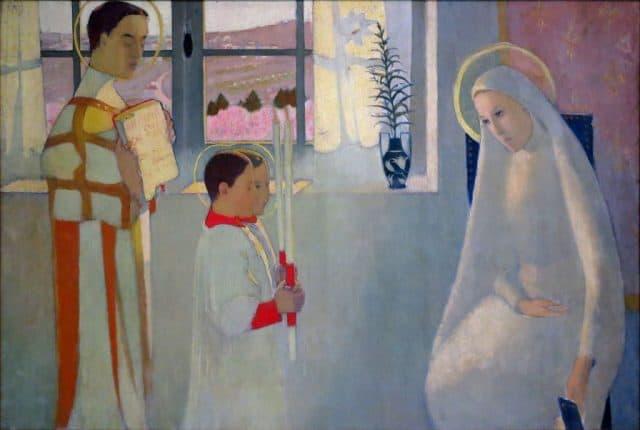 <strong>Maurice Denis</strong>, <em>Mistero cattolico</em>, 1889, olio su tela, Saint-Germain-en-Laye (Francia), Musée départemental Maurice Denis.