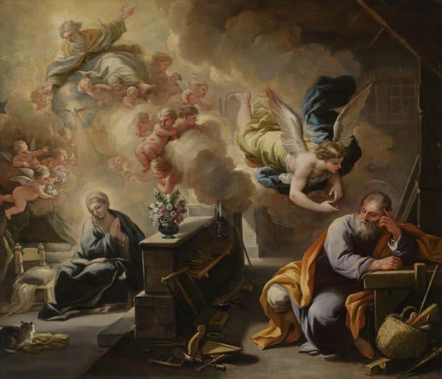 <strong>Luca Giordano</strong>, <em>Il sogno di san Giuseppe</em>, 1700, olio su tela, Indianapolis (Stati Uniti), Indianapolis Museum of Art.