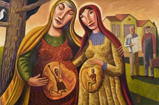 James B. Janknegt, Visitazione, 2008, olio su tela, collezione privata.