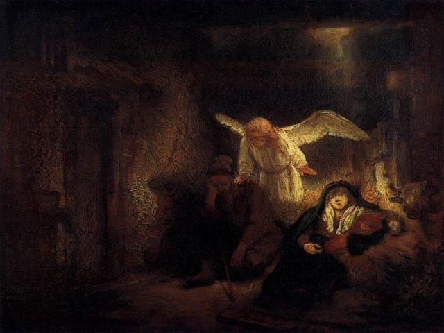 Rembrandt, Il sogno Giuseppe, 1645-1646, olio su tavola, Berlino (Germania), Gemäldegalerie