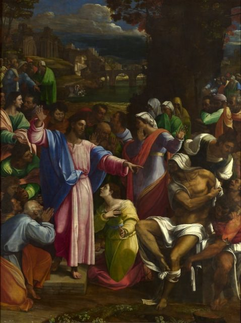 Sebastiano del Piombo, Resurrezione di Lazzaro