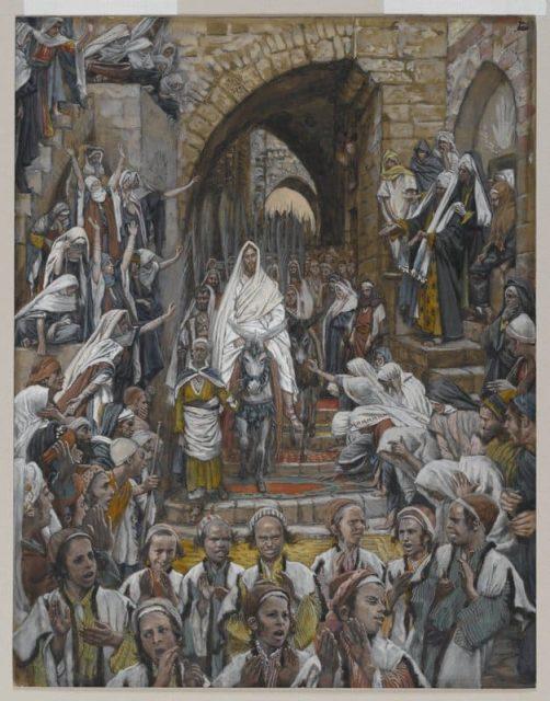 James Tissot, La processione per le strade di Gerusalemme