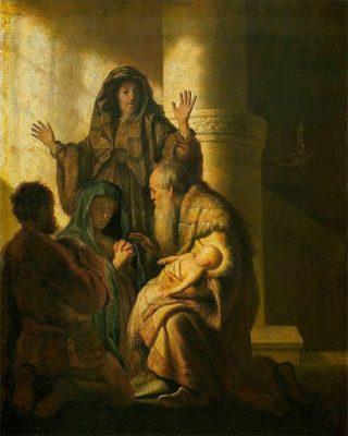 Rembrandt, Presentazione di Gesù al Tempio